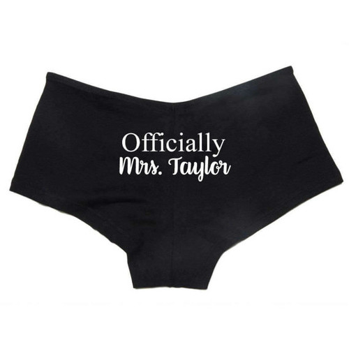 Personalized Officially Mrs Boyshorts