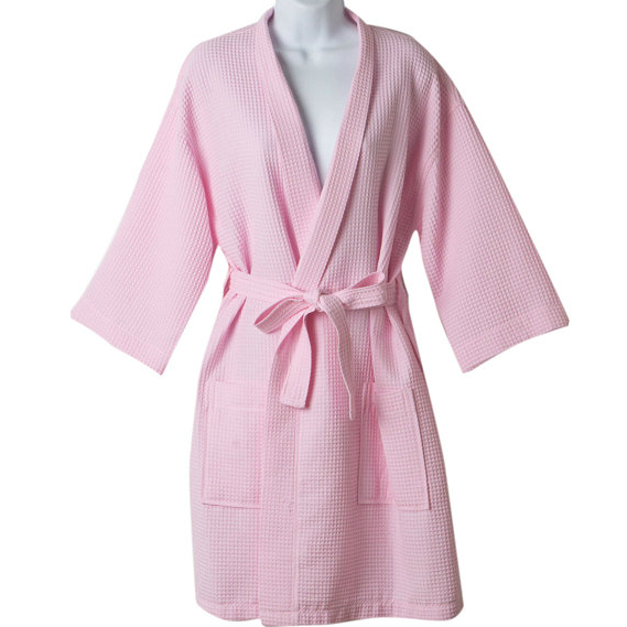 Light Pink Bridesmaid Kimono Waffle Robes - MyWedStyle.com 2d8ef05d7