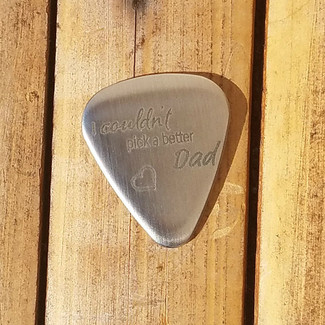 I Couldn't Pick A Better Dad Guitar Pick