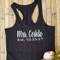 Personalized Bride Tank Tops