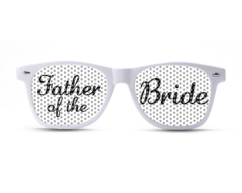 Father of the Bride Script Sunglasses