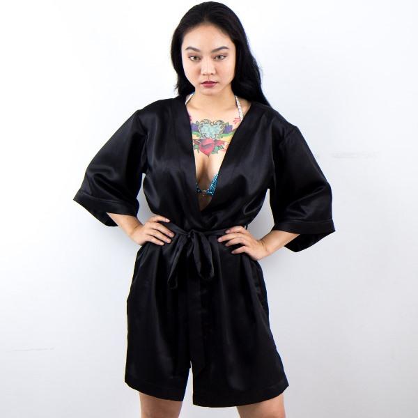 Black Bikini Competition Robe