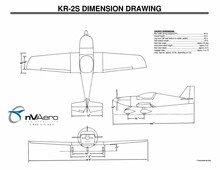 Three View Drawing of KR-2S and Dimensions