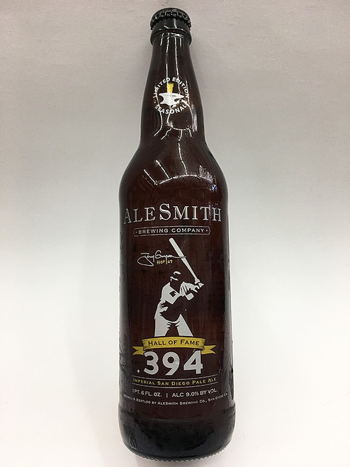 AleSmith Tony Gwynn Hall Of Fame Imperial Pale Ale .394