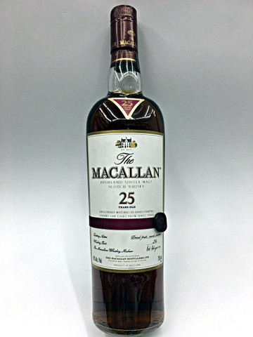The Macallan 25 Year Old Scotch Whiskey