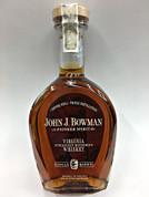 John J. Bowman Single Barrel Bourbon Whiskey