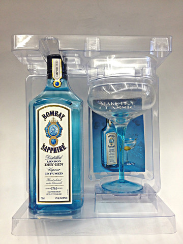 Bombay Sapphire Gin With Martini Glass Quality Liquor Store