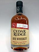 Cedar Ridge Rye Whiskey Handcrafted