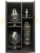 Azunia Anejo Black 2 Year Old Tequila   GIFT SET