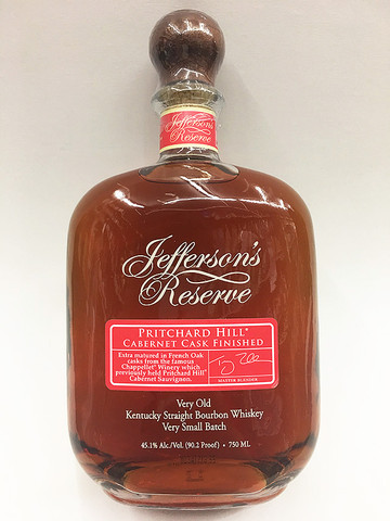 Jefferson's Reserve Pritchard Hill Cabernet Cask Finished Bourbon Whiskey