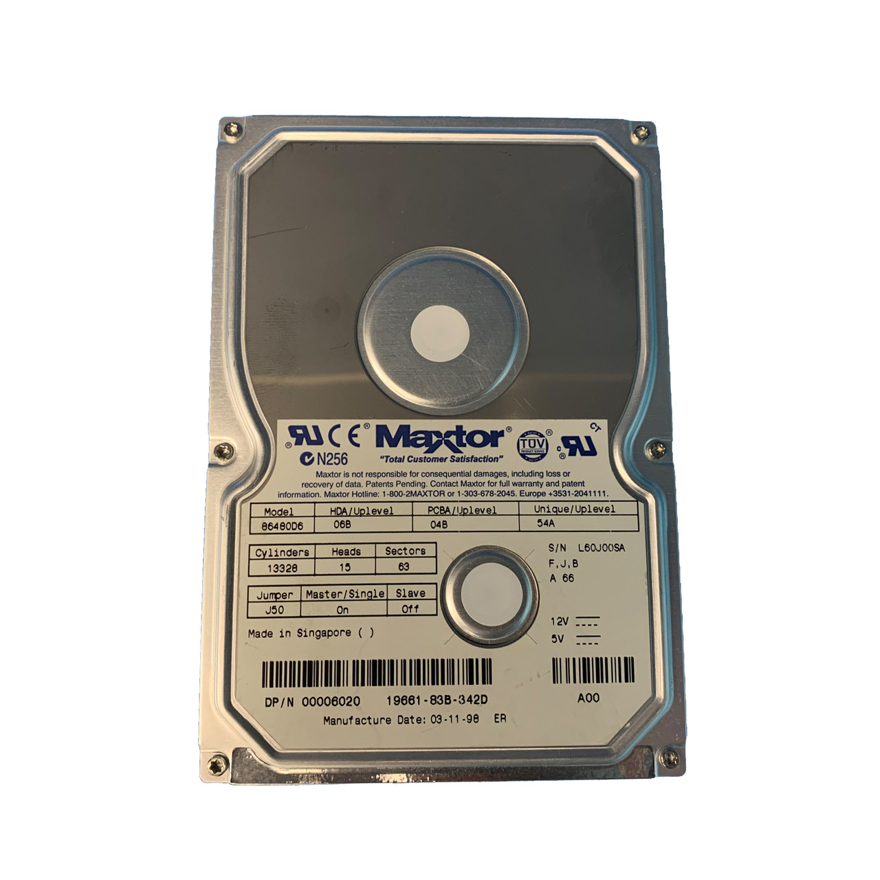 Maxtor Dell 86480D6 06020 6.4GB IDE Hard Drive TESTED