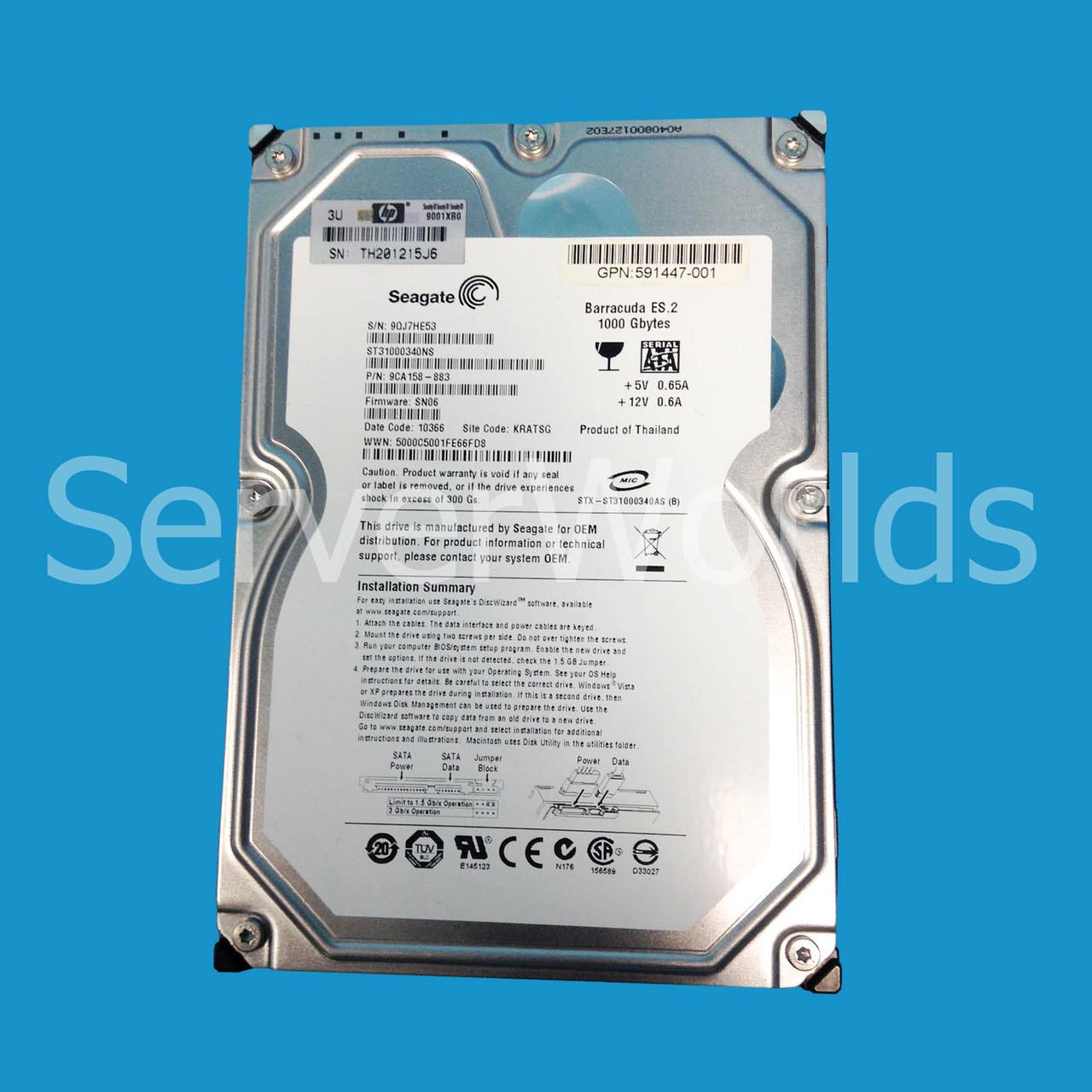 Certified Refurbished 1TB 7200 3G 3.5 MDL Hot Plug Hard Drive