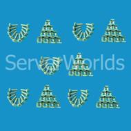 HP 169917-001 50-pack Captives Nuts