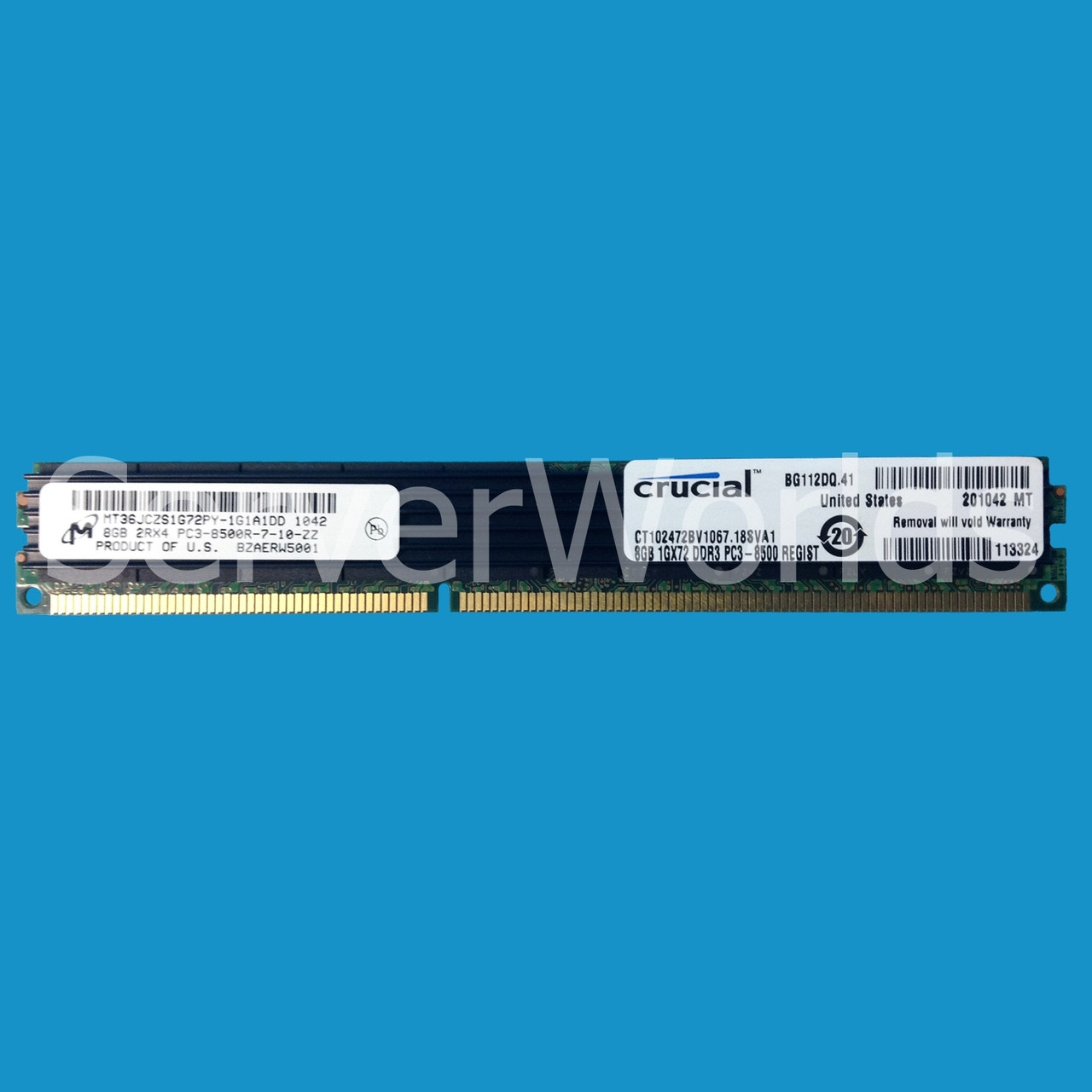 Crucial CT102472BV1339 | 8GB PC3-10600R (2Rx4) ECC DDR3 VLP