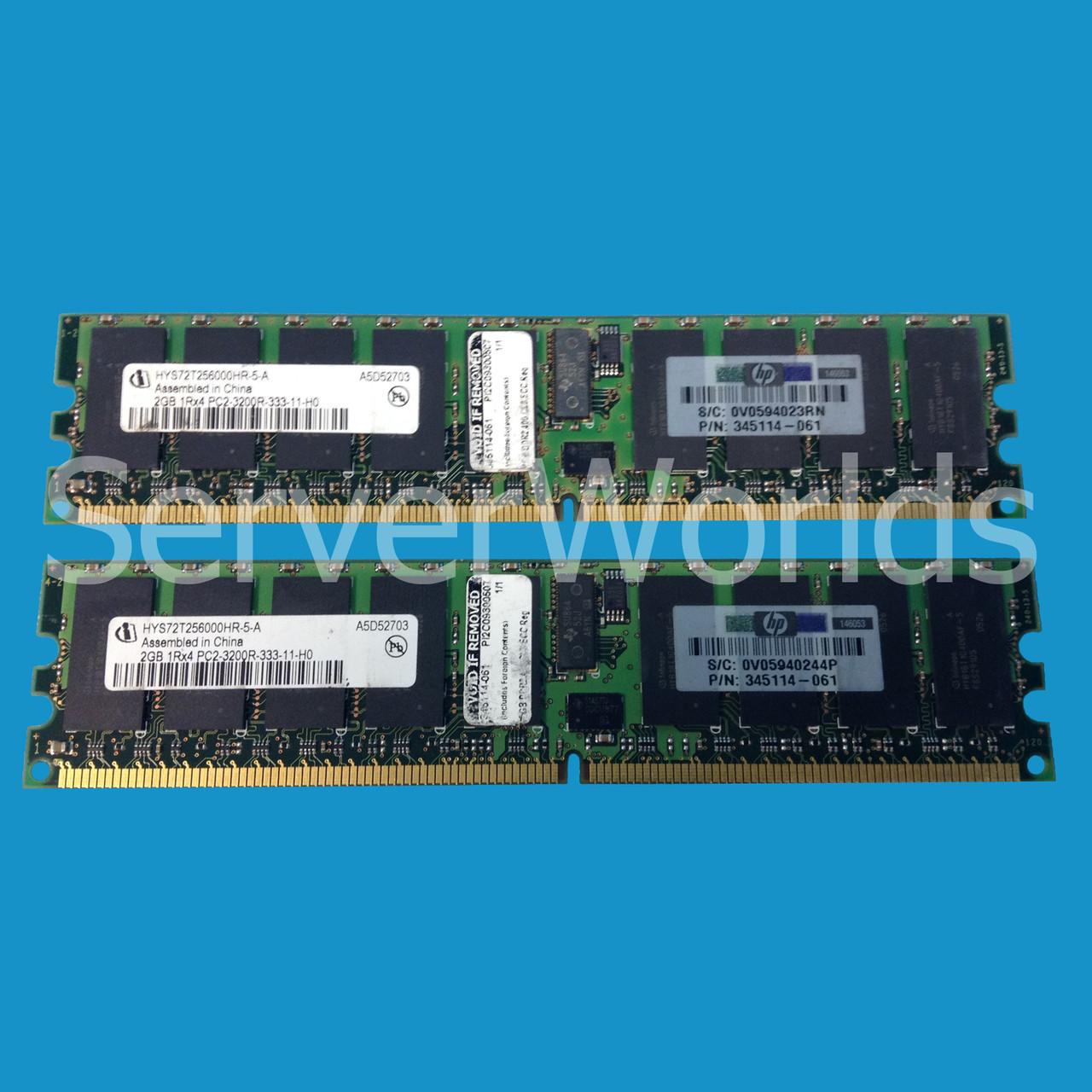 2x2GB PC2-3200 Memory for HP ProLiant 375004-B21 4GB
