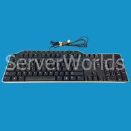 Dell 1RW52 Black and Silver USB Media Keyboard