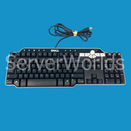 Dell DJ425 Black and Silver USB Media Keyboard SK-8135
