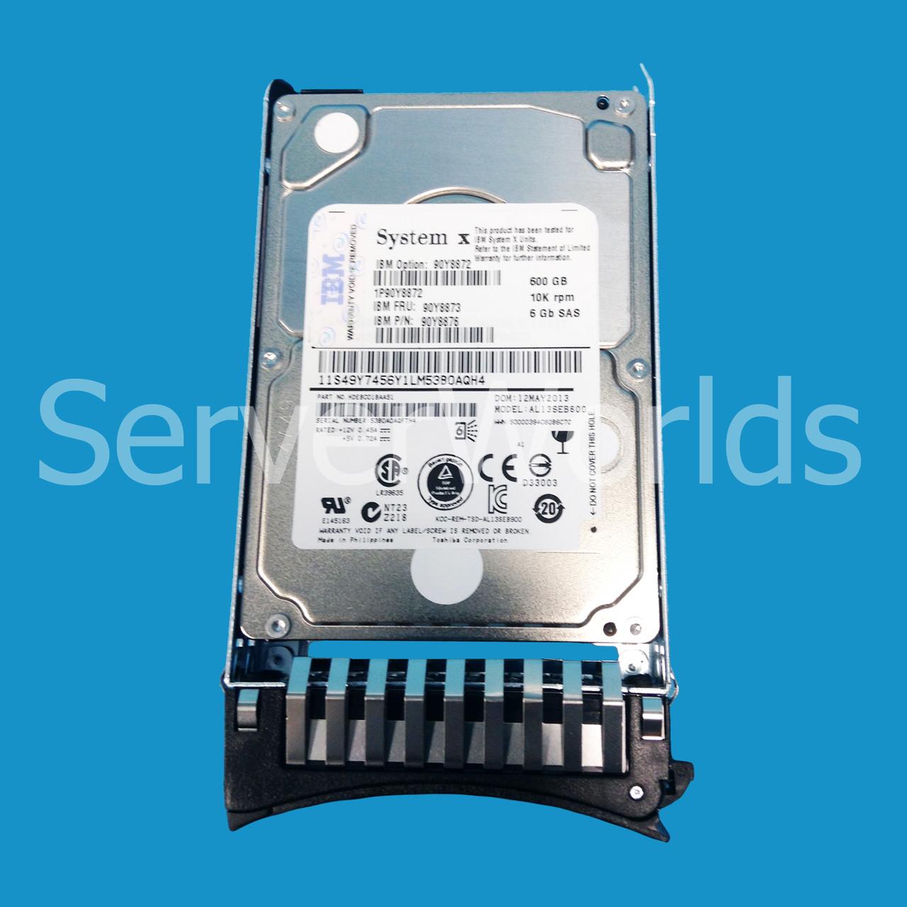 IBM 90Y8872 90Y8876 600GB 10K 2.5 SAS II 6 GB//PS HARD DRIVE 90Y8873 LENOVO