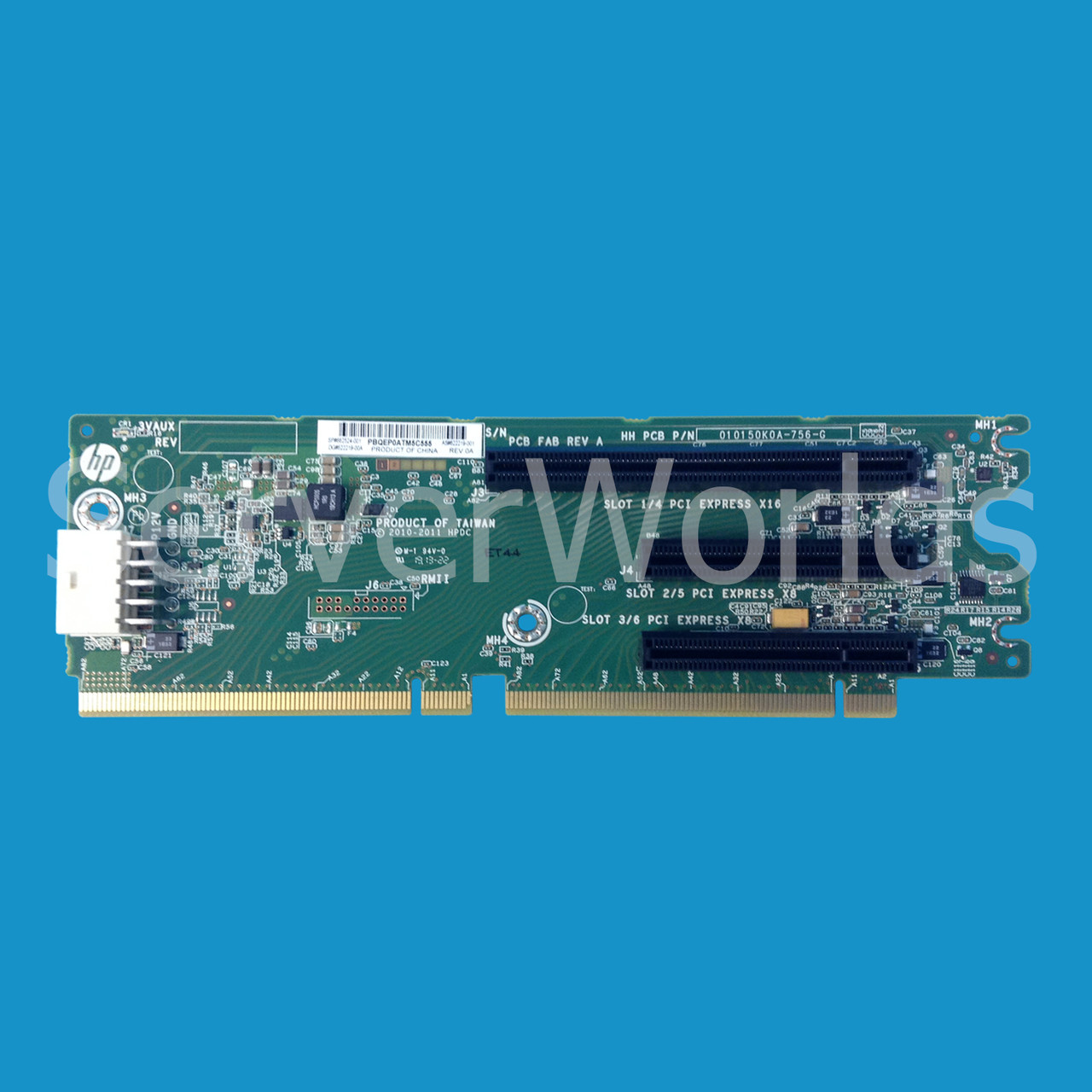 Hp 662524 001 Dl380p Gen8 3 Slot Pcie Riser Card 622219 Notebook Ide Interface Cdrom To Usb External Drive Circuit Board Red Image 1