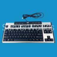 HP 535873-001 USB Mini Keyboard Black 533964-001