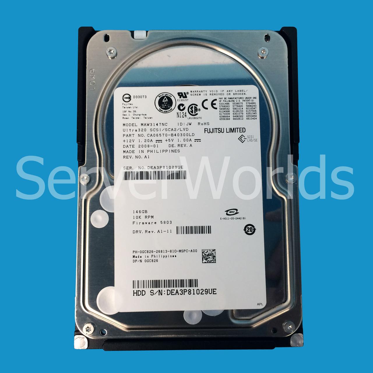 DELL GC826 DELL 146GB SCSI 10K 80P Hard Drive