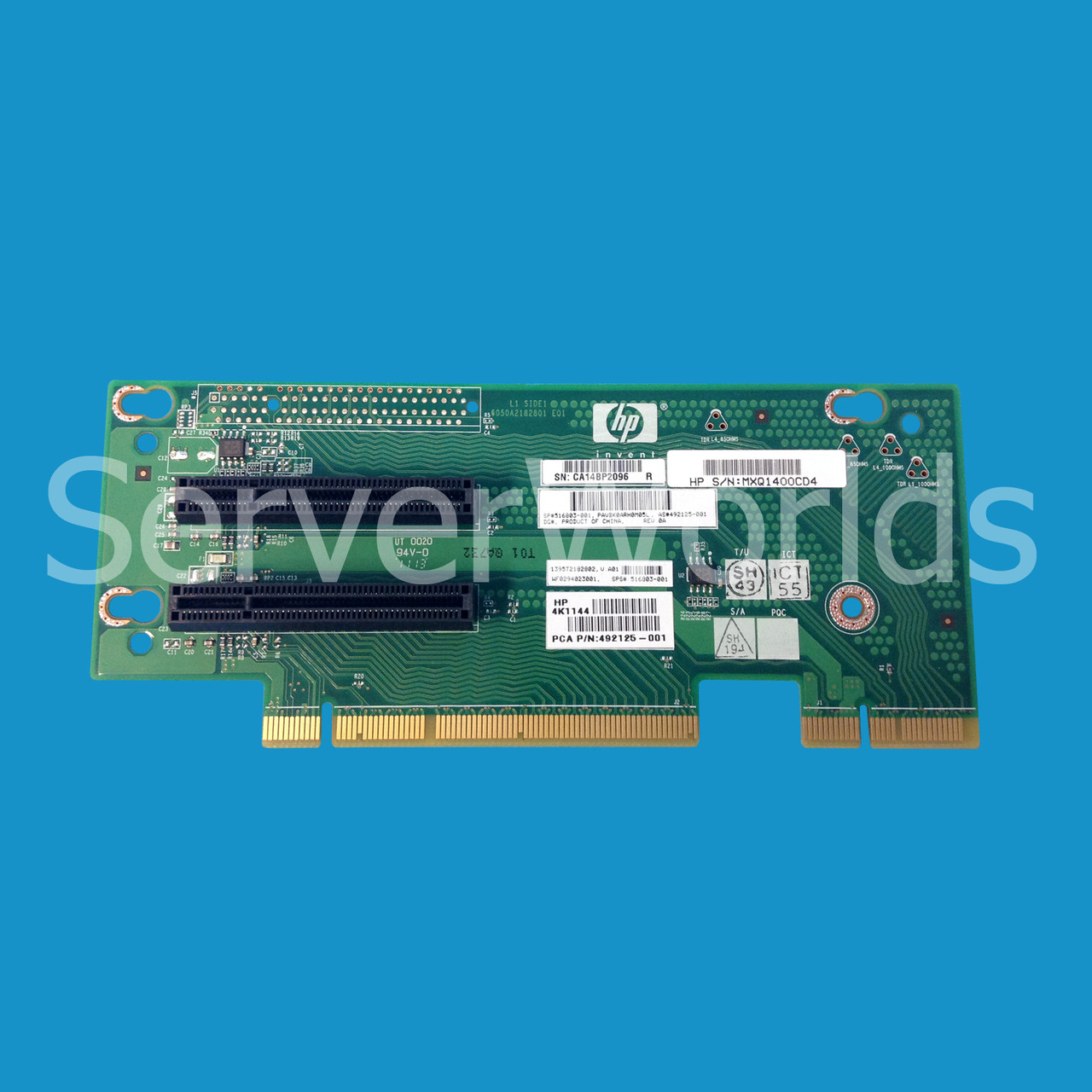 Hp 516803 001 Dl180 G6 Pcie Riser Board 492125 Serverworlds Notebook Ide Interface Cdrom To Usb External Drive Circuit Red Image 1