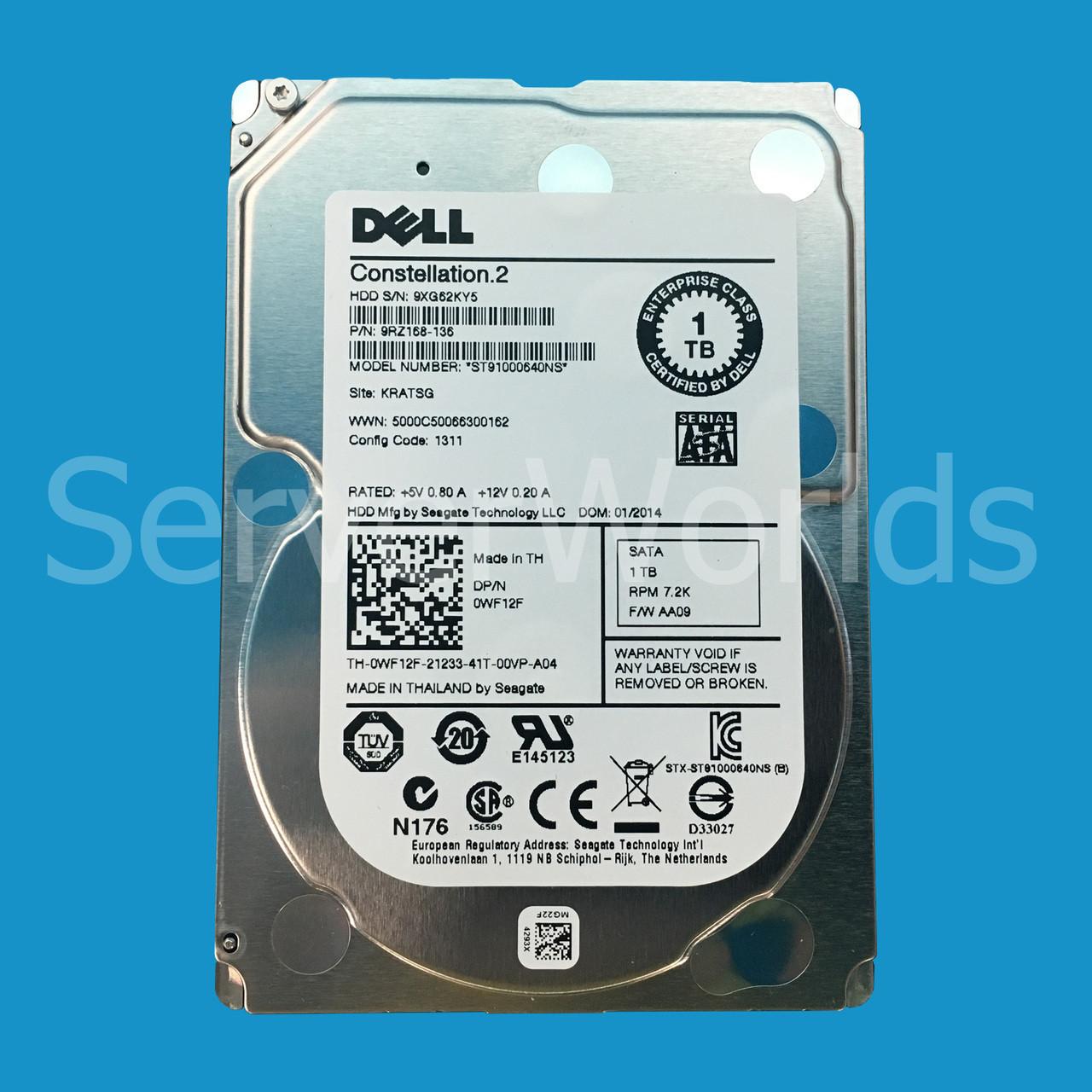 Dell WF12F | ST91000640NS | 9RZ168-136 - Serverworlds