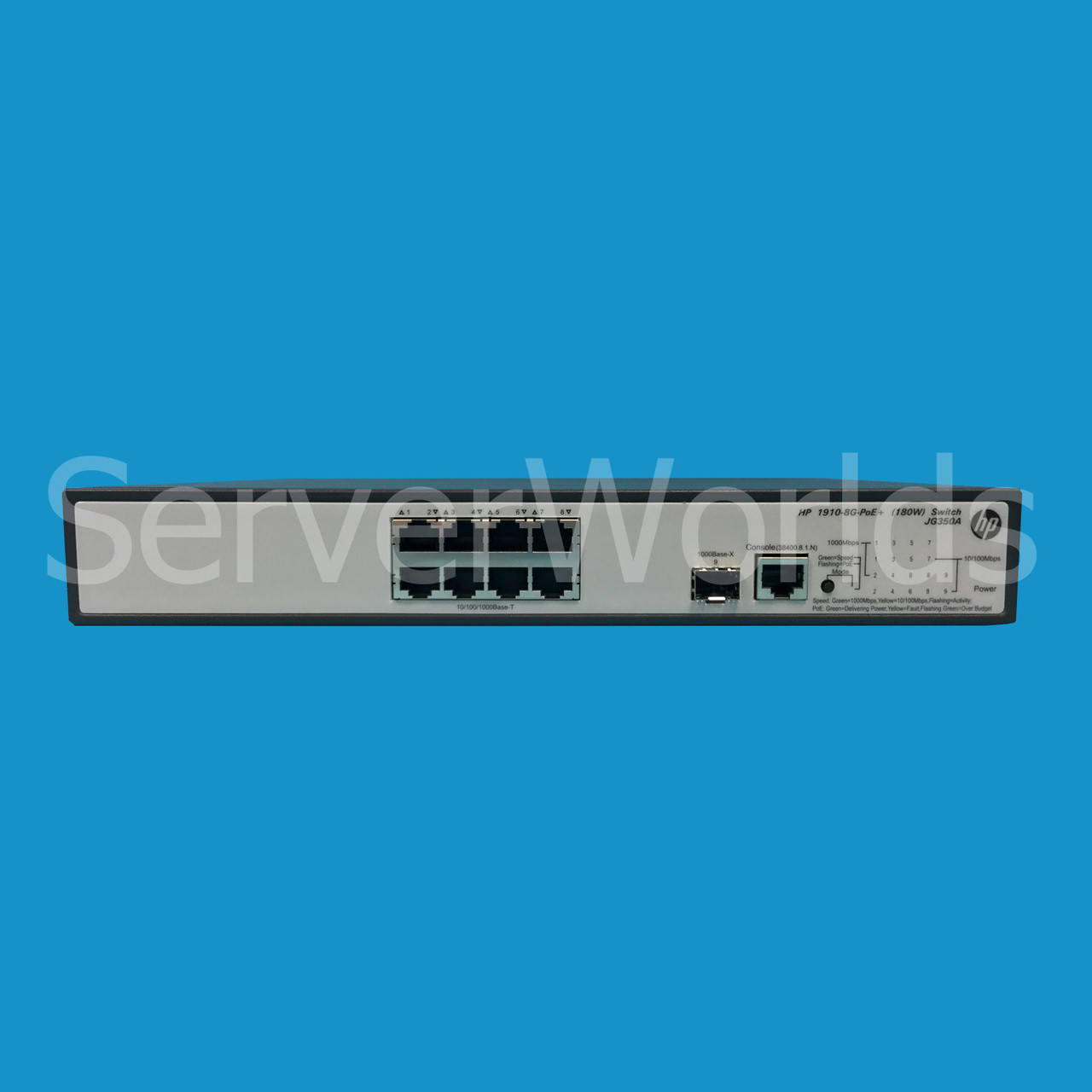HP JG350A | ProCurve 1910-8G POE 8-Port Switch - Serverworlds