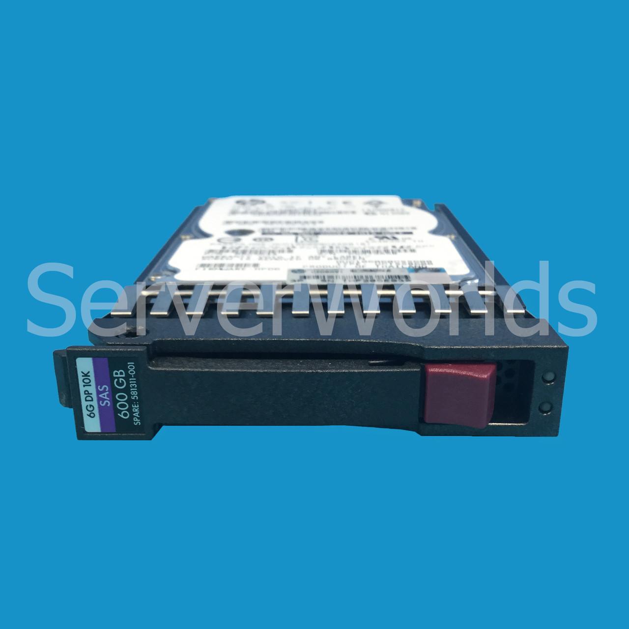 "HP 600GB 10K 2.5/""6G SAS DRIVE 581286-B21 599476-003"
