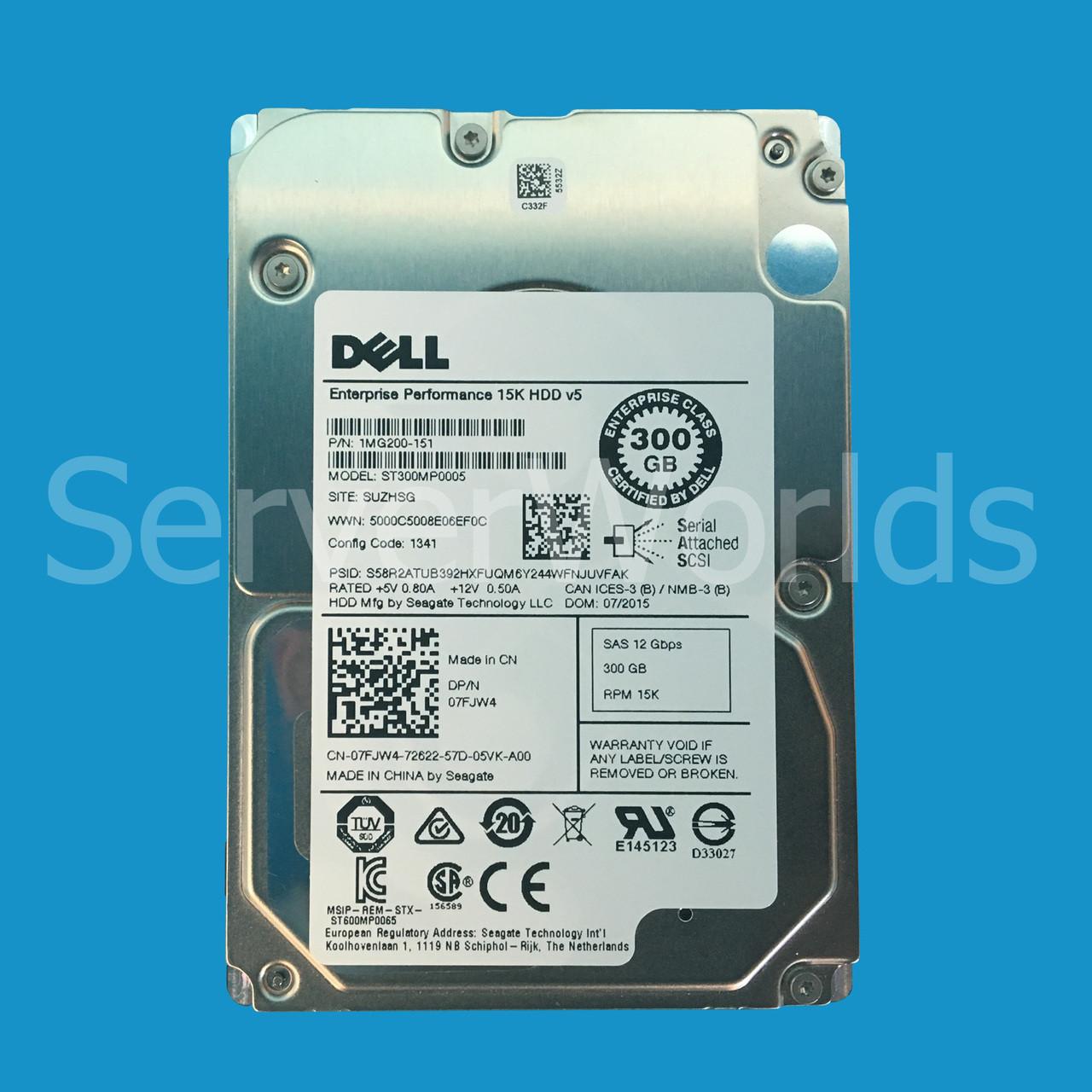 Dell 7FJW4 | 1MG200-151 | ST300MP0005 - Serverworlds