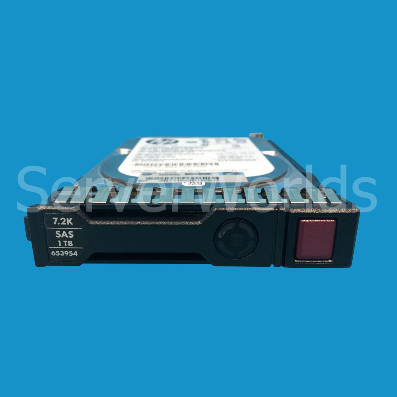 "HP 1TB 2.5/"" Hard Drive 652749-B21 6G SAS 7.2K SFF SC MDL G8 653954-001"