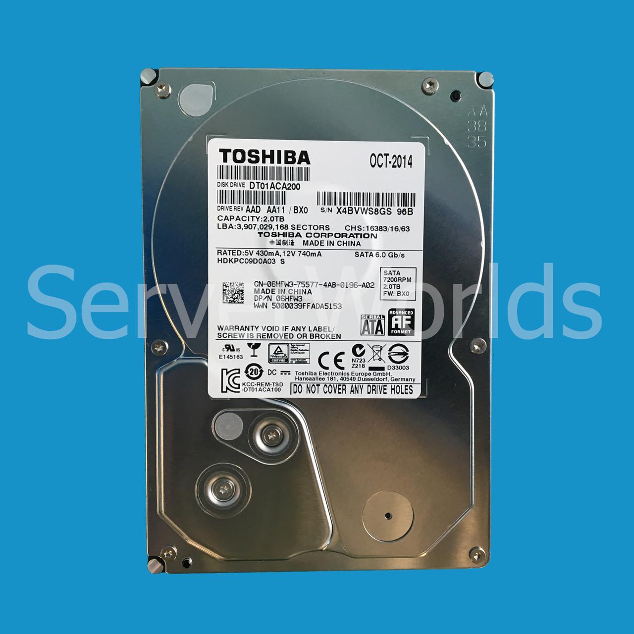 Dell 6HFW3 | DT01ACA200 | HDKPC09D0A03 - Serverworlds
