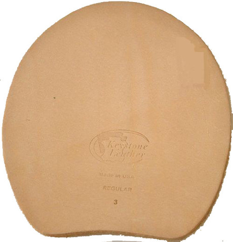 Keystone leather hoof pad