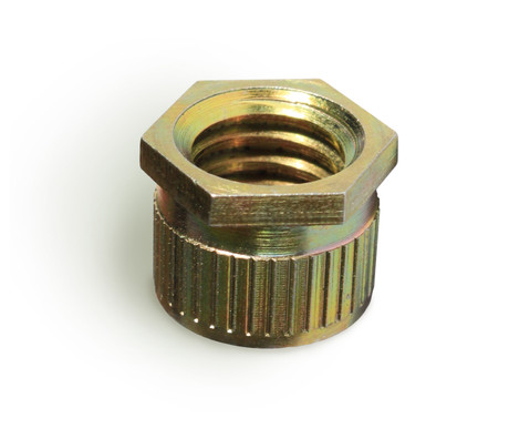 Steel threaded stud hole inserts
