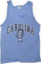 Strutting Ram Faded Cotton Tank Top-Blue Heather
