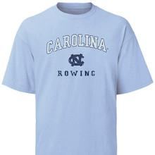 Carolina Blue Rowing Tee - cracked and faded look