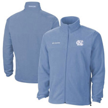 Carolina Blue full zip jacket with an interlocking NC