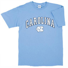 Youth Carolina Blue tee with Arc Carolina over the NC tee