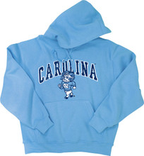 Carolina Blue hood with an arc Carolina over a strutting Rameses.