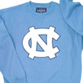 Carolina Blue Big NC Crew has a big two color Interlocking NC