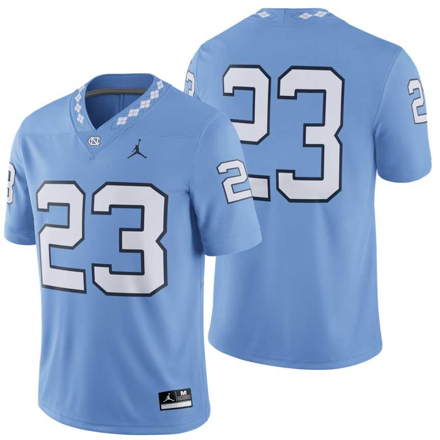 088e4c3b 2017 Nike Jordan Football Game Jersey - Carolina Blue #23