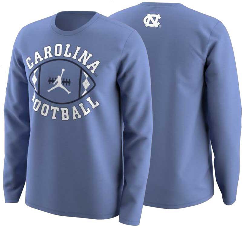8998d2842516eb Nike Jordan Football Activation LONG SLEEVE Tee - Carolina Blue. Loading  zoom