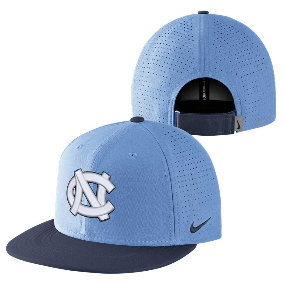 Nike DriFIT Aerobill Snapback Hat - Carolina Blue with Navy 7e802fc9f23