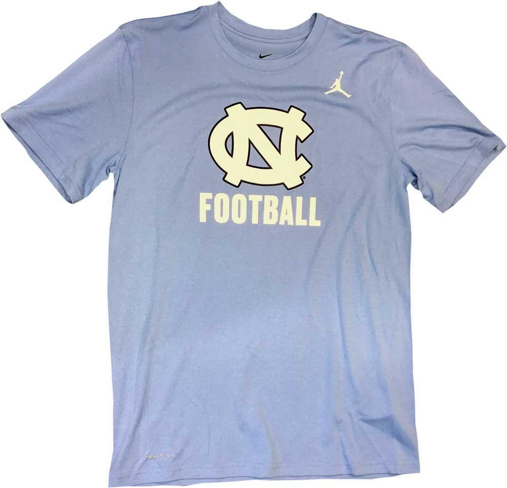 5081a914 Nike Jumpman Legend Tee - Carolina Blue NC Football. Loading zoom