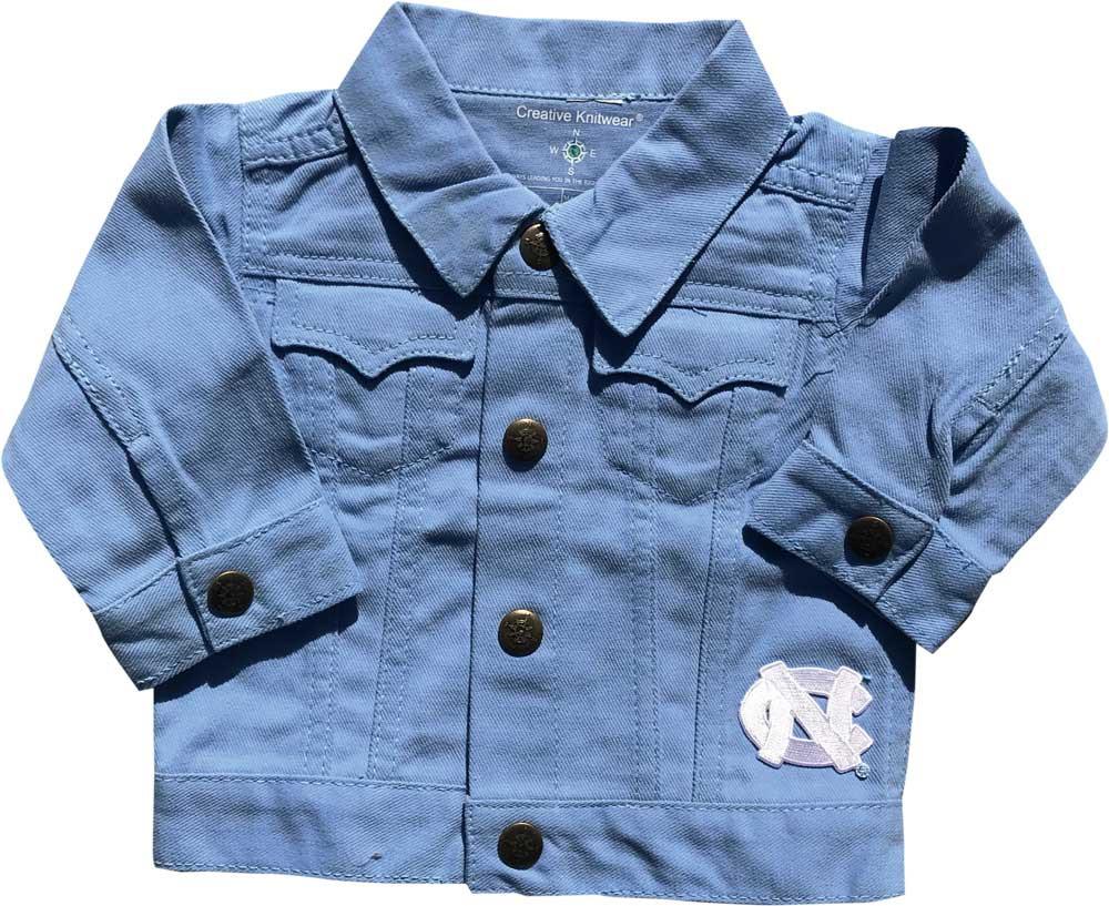 587293d1c4d4b Creative Knitwear INFANT Denim Jacket - Carolina Blue