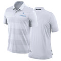 Nike Early Season Striped Polo - White Jumpman Carolina