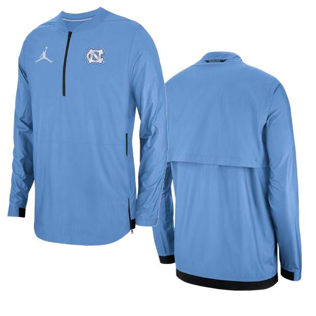 f41cf20362e1 Nike Carolina Lockdown 1 2 Zip Jacket - Carolina Blue