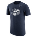 Nike TriBlend Vault Tee - Navy Heather with Ram Face