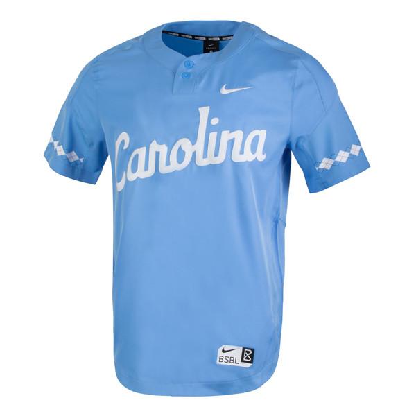 faf3187cc Nike Carolina Baseball 2 Button Jersey - Carolina Blue. Loading zoom