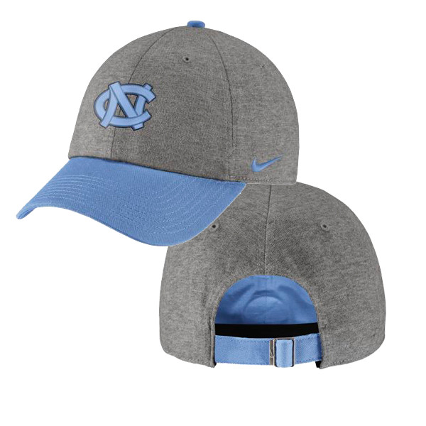 Nike Carolina Heritage 86 Hat - Heathered Gray and Blue 62387789210